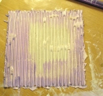 purple smooch, corrugated board