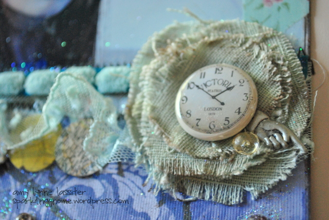 helmar and robins nest, amylynne, clock and fabric